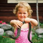 Katie with snake
