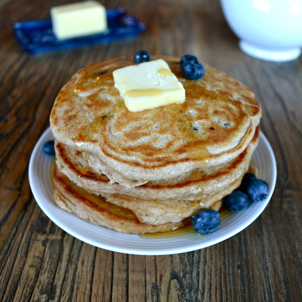 Sprouted Wheat Blueberry Pancakes