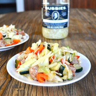 Sauteed Veggies, Sausage, and Sauerkraut