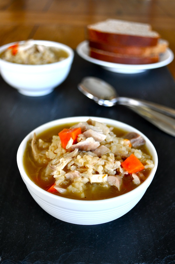 Soaked Brown Rice, Chicken, and Veggie Soup 2