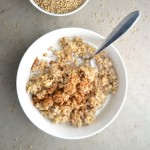 Soaked Steel Cut Oatmeal - In this recipe, learn how to pre-soak your oats, which makes them easier to digest and helps your body to absorb the nutrients better. Steel cut oatmeal has a great texture and flavor we eat them for multiple breakfasts during the week! | twothirdscup.com