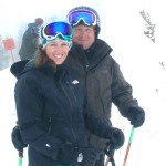 Katie and Dave skiing