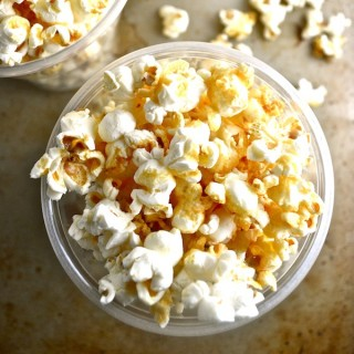 "This honey vanilla popcorn is a healthy version of ""caramel"" popcorn. This recipe uses no refined sugar and no corn syrup. It's easy to make and has only five ingredients: popped corn, honey, vanilla, butter, and salt. 
