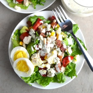 Healthy Cobb Salad. Full of healthy fats, protein, and vegetables, this salad is a meal on its own. Hands-down my favorite salad! | twothirdscup.com