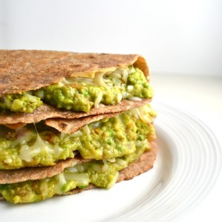 These avocado quesadillas are made with all-natural ingredients. They're simple and so delicious! | twothirdscup.com