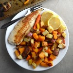 Oven-Roasted Fall Vegetables - easy to make and so delicious. Just toss them with olive oil, salt, and pepper and then cook. A healthy side for any meal. | twothirdscup.com