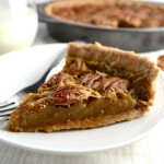 Maple Pecan Pie - A healthier version of pecan pie. This recipe has no corn syrup or refined sugar. It's a crowd pleaser! | twothirdscup.com